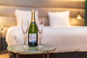 Champagne in the hotel room